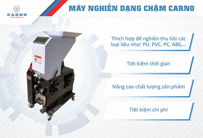 may-nghien-dang-cham-tai-carno-la-dong-tiet-kiem-chi-phi
